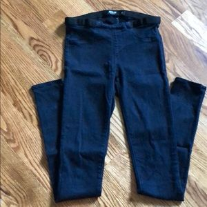 Just black jeans with elastic waist size 25